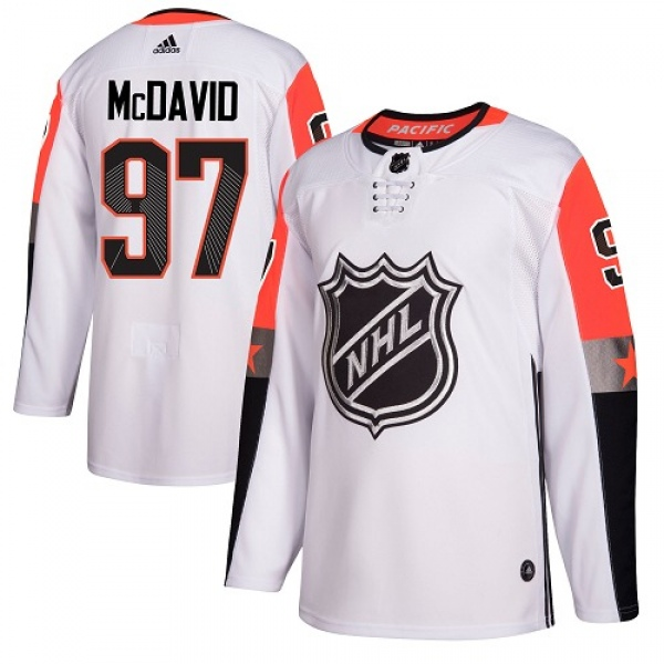 best website 27b59 66d23 Men's Connor McDavid Edmonton Oilers Adidas 2018 All-Star Pacific Division  Jersey - Authentic White - Oilers Shop