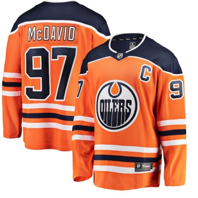 Men's Connor McDavid Edmonton Oilers Fanatics Branded Home Jersey - Breakaway Orange