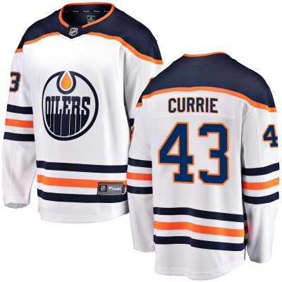 Men's Josh Currie Edmonton Oilers Fanatics Branded Away Breakaway Jersey - Authentic White