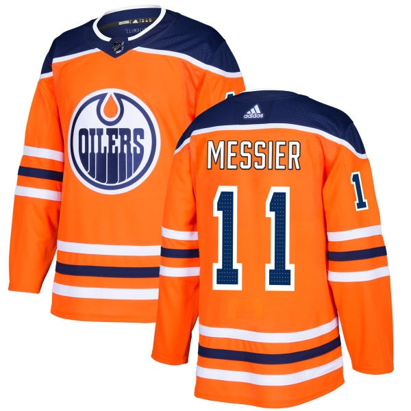 Men's Mark Messier Edmonton Oilers Adidas Jersey - Authentic Royal