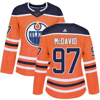Women's Connor McDavid Edmonton Oilers Adidas Home Jersey - Authentic Orange