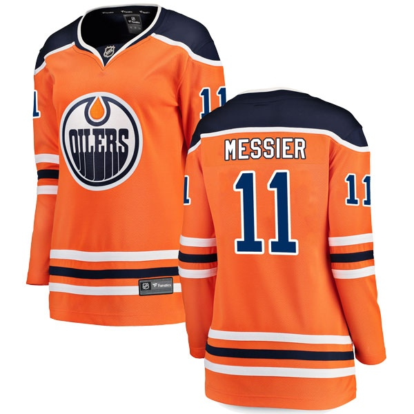 Women's Mark Messier Edmonton Oilers Fanatics Branded r Home Breakaway Jersey - Authentic Orange