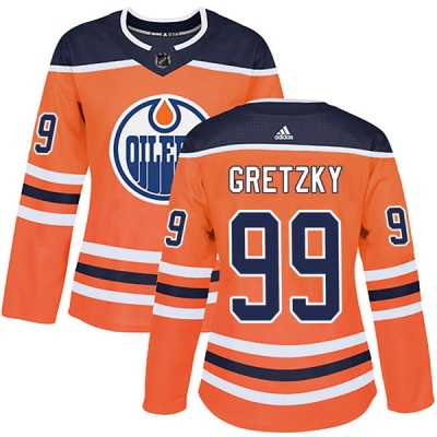 separation shoes c57ec de1aa Women's Wayne Gretzky Edmonton Oilers Adidas r Home Jersey - Authentic  Orange