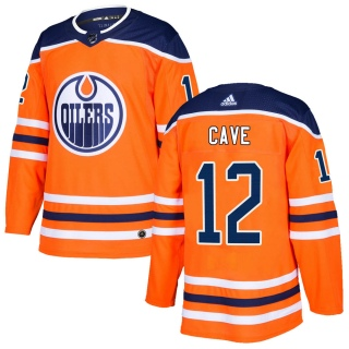 Youth Colby Cave Edmonton Oilers Adidas r Home Jersey - Authentic Orange