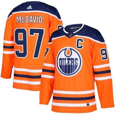 Youth Connor McDavid Edmonton Oilers Adidas Home Jersey - Authentic Orange