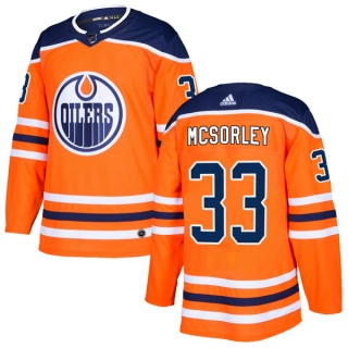 Youth Marty Mcsorley Edmonton Oilers Adidas r Home Jersey - Authentic Orange