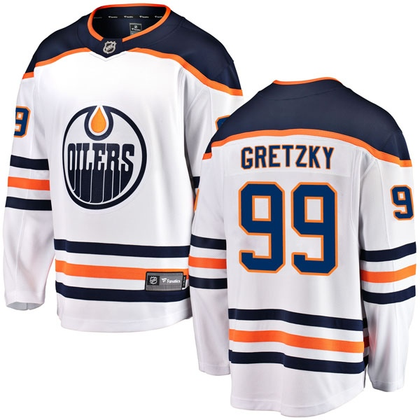 the latest 69aeb cd05a Youth Wayne Gretzky Edmonton Oilers Fanatics Branded Away Jersey -  Breakaway White - Oilers Shop